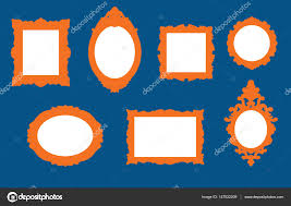 Set of antique picture frame designs Stock Vector