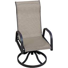 Madison Bay Sling Patio Swivel Rocker Dining Chair By Lakeview ...