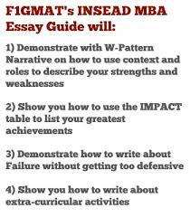 insead mba essay tips give a candid description of yourself insead mba essay 1