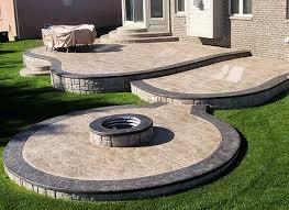 backyard concrete designs.  Designs Patio Stamped Concrete Designs Charming Backyard On N