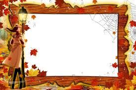 photo frame the walk on autumn park