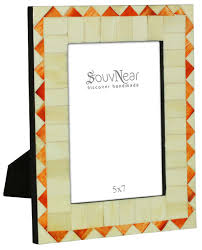 Small Picture Bulk Buy 5x7 Inches White Orange Picture Frame Wholesale