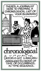 Chronological Words Chrono Chron Word Information