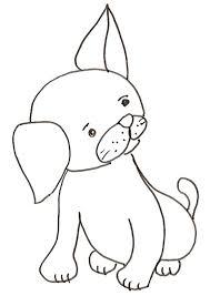 Cucciolo Di Cane Disegno Da Colorare Cose Per Crescere Con Disegni
