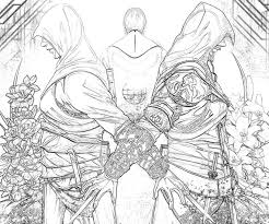 Assassins Creed Coloring Pages Assassins Creed 4 Video Games