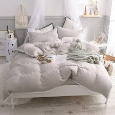 2018 white pink gray blue light green yarn duvet cover set for queen size bedding set bed sheet linen for girls teal bedding king size bedding from