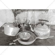 aluminum kitchen utensils. Modren Aluminum Old Objects On A Table To Kitchen Pans Sieve In Aluminum Kitchen Utensils