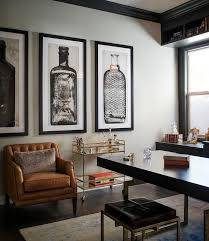 contemporary mens office decor. Beautiful Office Well Appointed Contemporary Home Office Features An Orange Leather Tufted  Chair Placed Beside A West Elm Menu0027s Office DecorOffice  On Contemporary Mens Decor O