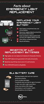 Emergency Light Battery Replacement Pin On Sealed Lead Acid Battery Infographics
