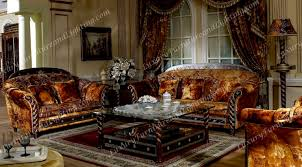 Zeus Walnut & Gold Italian Furniture Italian Living Room