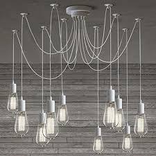 susuo lighting modern chic multi pendant chandelier adjustable diy ceiling spider lighting color white amazoncom multi pendant chandelier g63