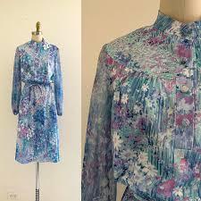 vine 70 39 s fl print dress