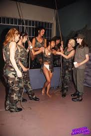 Hot Blonde And Brunette Army Lesbians Dildo Bondage Orgy Pichunter