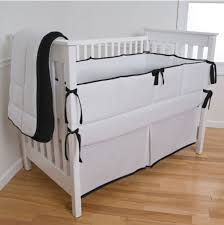 modern black and white custom crib bedding