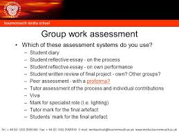 group work assessment in media production ppt  13 group