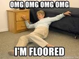 omg omg omg omg i'm floored - Old lady falling Â¡Jesucristo!   Meme Generator