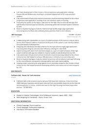 Dot Net Design Patterns Pdf Dot Net Developer Resume Sample Template To Download Word