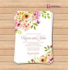 Free Printable Blank Wedding Invitation Templates | vastuuonminun