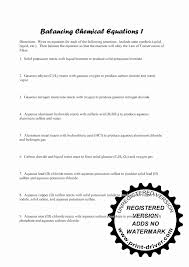 collection of balancing equations worksheet word problems