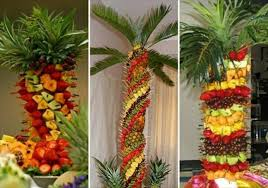 88 Best Pineapple Tree Images On Pinterest  Fruit Displays Party Fresh Fruit Tree Display