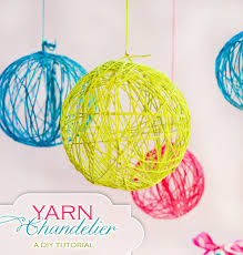 diy tutorial creative yarn chandelier hostess with the mostess simple ideas design