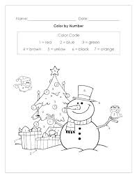 Color By Number Coloring Pages For Kindergarten Coloring Sheets For
