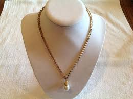 details about codi gold belcher style 16 necklace with sim baroque single pearl pendant