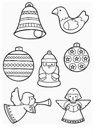 Small Picture 5 Christmas Ornament Coloring Pages Merry Christmas