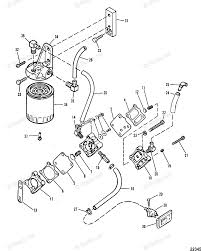 Mercury outboard by year mariner outboard oem parts diagram for fuel pump and fuel filter boats