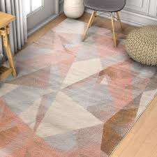 image of modern geometric rug pattern