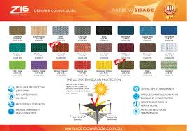 Shade Sail Colour Chart Shade Cloth Colours For Awnings Shade Sails Blinds