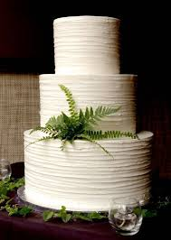Texture Icing Plain White Wedding Cake Simple And Perfect
