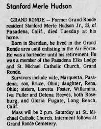 Stanford Merle Hudson, 52, obituary. 1980. - Newspapers.com