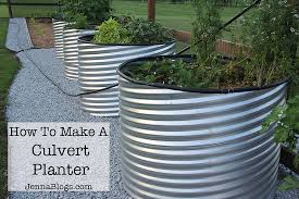 how to make a culvert garden planter