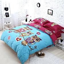 owl twin bedding set smart girls twin bedding best of hot pink and aqua blue retro style night owl bird owl twin comforter set