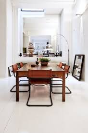 modern cantilever dining chairs with wood table