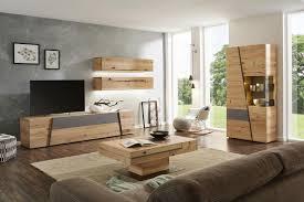 Wohnwand In Grau Naturfarben In 2019 Wohnzimmer Dekor