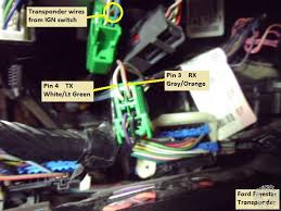 2004 2007 ford star remote start w keyless pictorial here is a photo of the door lock and disarm wires this is the door harness found just above the dkp trim next to the sjb