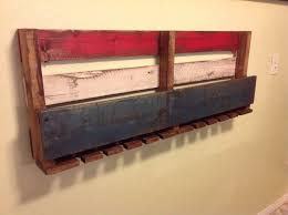 Reclaimed Wood Wine Cabinet Gorgeous Rustic Reclaimed Wine Rack American Flag Furniture
