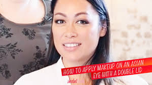 how to apply makeup on an asian eye with a double lid sherbet bir