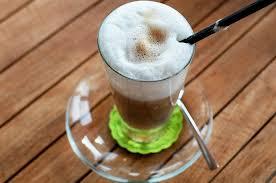 Znalezione obrazy dla zapytania  Coffee milk in a glass