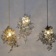 unique chandelier lighting. modern unique chandelier simple leaves diy goldchrome 40w shadeless light dining room loft lighting