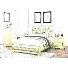 upholstered king bed set leather tufted bedroom mirrored and 4