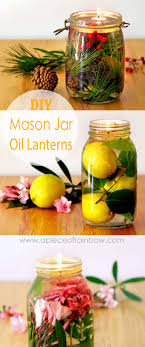 make gorgeous oil lamp from mason jars and glass bottles safer than candles it