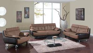 leather sofa loveseat set couch and black in tan brown by global furniture charming two tone