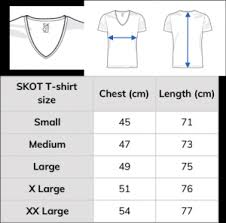 Chest Size Shirt Chart Shirt Size Chart From Skot Fashion Choose Sustainable