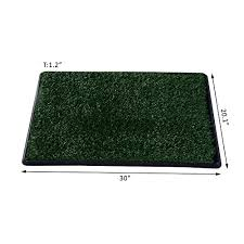 grass pad restroom potty training w tray indoor outdoor new 30 large pet dog toilet