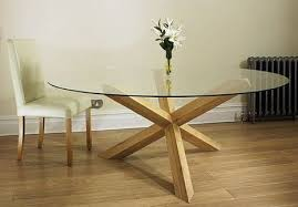circular oak dining table havana glass round dining table on solid oak pedestal four sizes