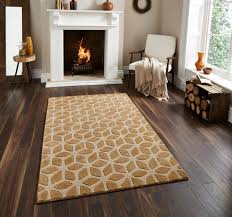 these hand tufted geometric design fusion rugs combine two luxurious materials wool and viscose to create a stunning with a high density of