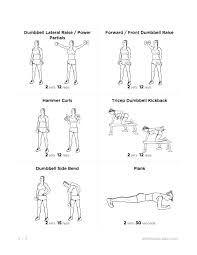 Dumb Bell Workout Workout Routines
